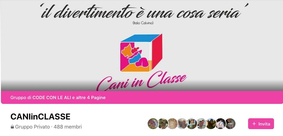CANIinCLASSE-gruppo_Facebook